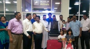 FR JACOB MATHEW UPON ARRIVAL IN MUSCAT